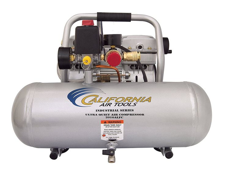 California Air Tools 2010ALFC Ultra Quiet, Oil Free Lightweight 1.0 hp Industrial Compressor, 2.0 gallon