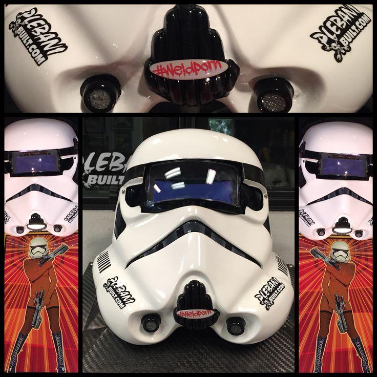 Storm trooper welding mask