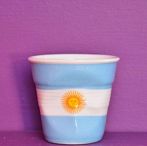 Tasse froissée Flag Argentine par Revol made in france porcelaine le café qui voit du monde
