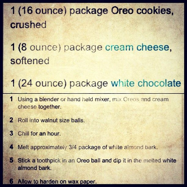 am posting this for all the people asking how to make Oreo Balls. It is super ea