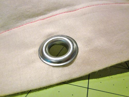 How to Install Metal Grommets | Sew4Home -For my soon-to-be awesome vintage mail bag pillow.