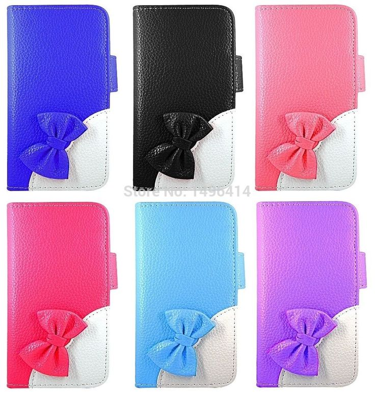 Smart Bow Book Flip Leather Wallet Magnetic Case Cover Apple Samsung Nokia Phone