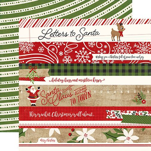 Echo Park A Perfect Christmas 12x12 Paper: Border Strips