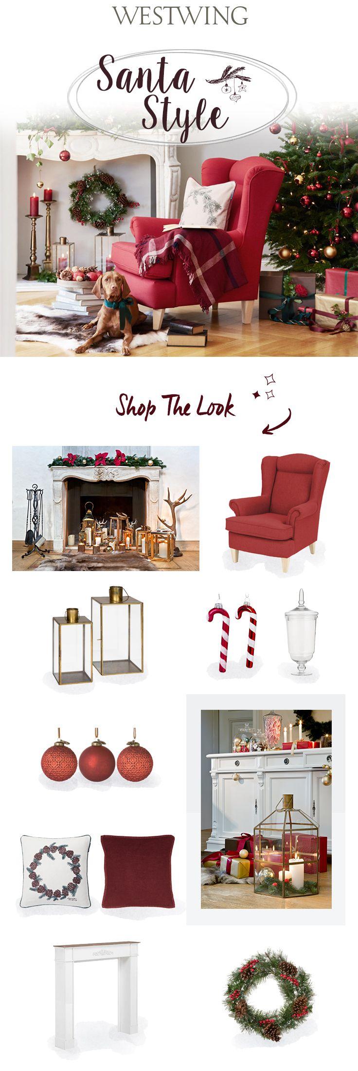 So funktioniert der Look»Santa Style«: Du träumst von einem Weihnachten im typisch amerikanischen Style? Dann dürfen Rot, Tannengrün und ganz viel Gold nicht fehlen. Key-Piece für den klassischen Look: ein roter Ohrensessel! Übrigens: das Styling eignet sich auch perfekt für einen stimmungsvollen Eingangsbereich. Hier fühlt sich die ganze Familie wohl – inklusive tierischer Mitbewohner! Entdecke die passende Themenwelt in unserem Weihnachtsshop bei WestwingNow.