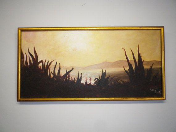 Original Oil Painting Art  Spanish Vintage by VillaMaria9 on Etsy, $68.00