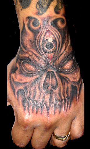 Skull Hand Tattoos For Men Hand tattoos