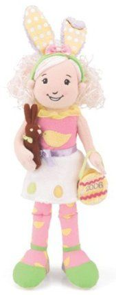 """Groovy Girls Clara by Manhattan Toy. $17.99. brand new with tags. Clara Easter Groovy Girl  Limited Edition -  Clara Easter Groovy Girl would be """"hoppy"""" to come home to your Groovy Girl! She's adorable dressed in spring colors with rabbit ears headband. Her pink shell top features a yellow chick and Easter eggs decorate her fuzzy white skirt. Clara carries a Easter egg purse and a """"chocolate"""" bunny. 14"""" high.  Ages 3 years +. Save 10% Off!"""
