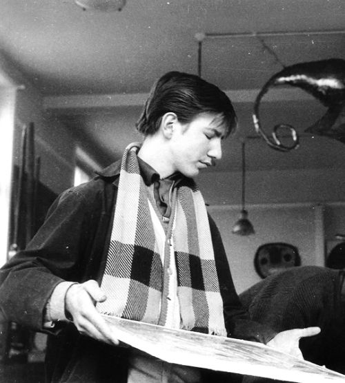 Young Alan Rickman at Latymer Upper School (Class of 1964) - roughly 18-years-old