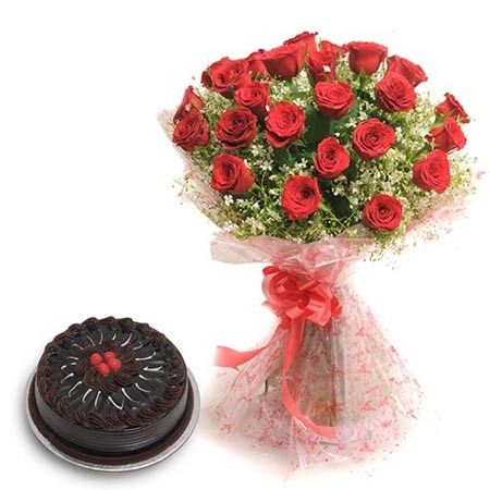 Bangalore Only - Fresh Flower - Roses N Chocolaty Love