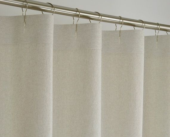 96 Inch Long Blackout Curtains White 84-Inch Shower Curtain
