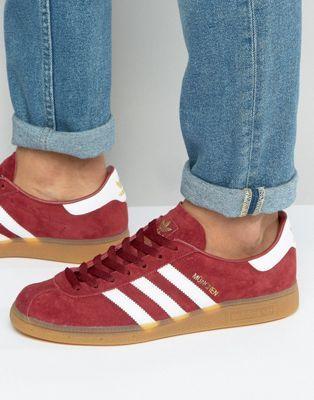 Красные кроссовки adidas Originals Munchen BB2776