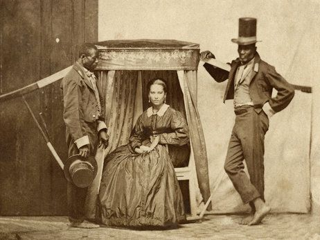 """""""He's showing himself, and saying 'I'm not just like this, I'm another thing. I'm something different. I'm something else,"""" 1860 Slaves/Brazil"""