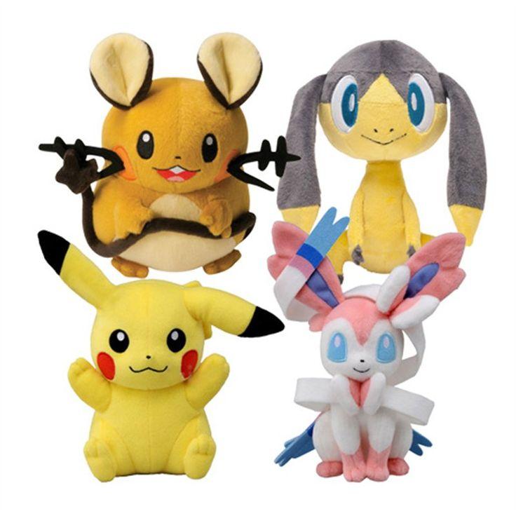 POKEMON X e Y PLUSH Peluche da 20 cm di Pikachu, Dedenne, Helioptile e Sylveon, direttamente da Pokemon X e Y. Materiali di qualità, licenza ufficiale Nintendo. Un soggetto casuale all'interno dell'assortimento. - Maggiori dettagli: http://www.thegameshop.it/it/peluche/559-tomy-pokemon-x-e-y-serie-2-0987654321098.html#sthash.TQxfTMeH.dpuf
