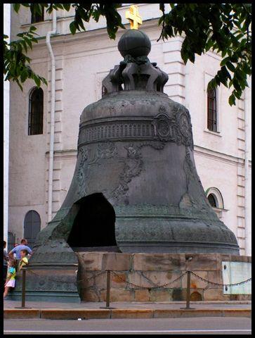Enorme Russian Tsar Bell (rotto prima che potesse mai essere utilizzato