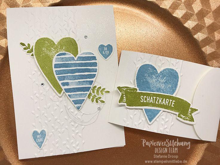 Stampin Up - Karte - Card - Verpackung - Gutscheinkarte - Valentinstag - Herzen - Produktreihe Für Schatz-Karten - Ozeanblau - PapierverSUchung Design Team ♥ StempelnmitLiebe