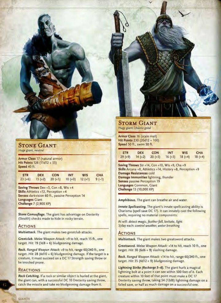Storm and Stone Giants 5e   Pathfinder in 2019   Dnd