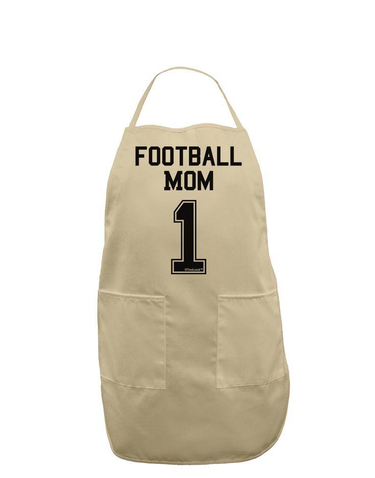 TooLoud Football Mom Jersey Adult Apron