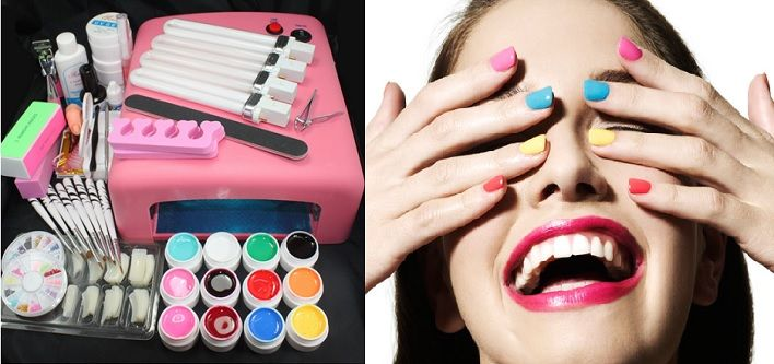 $49.00 For A 52Pc Professional At Home Nail Kit with UV Lamp (Value $149.99)  OR $95.00 For TWO