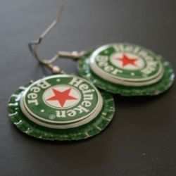 Bottle Cap Earrings! I soooo made these when I was a teenager.