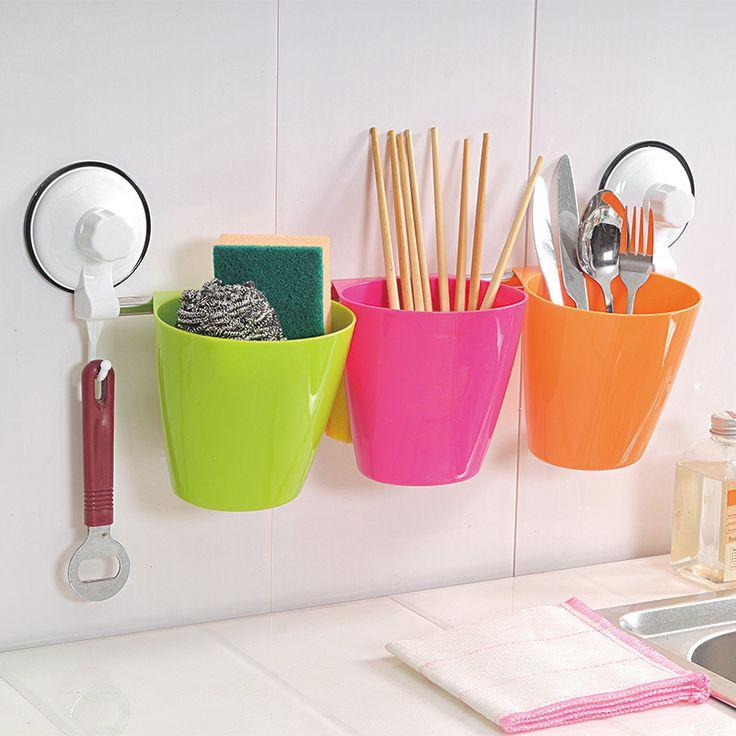 Сезон кухня полки ванная комната хранения стойку стойку настенного хранения корзины сливной стойку столовые приборы вилка ложка палочки для еды отделка