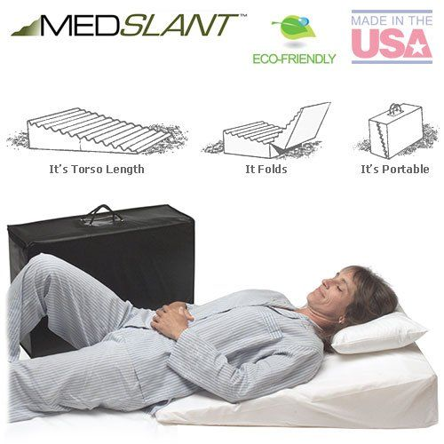 "Wedge Pillow for Acid Reflux (32""x24""x7"") - Folding Pillow includes a Zippered Poly-Cotton Folding Cover, Fitted Poly-Cotton Cover and Quality Carry Case. Recommended by Dr. Mike Roizen as a Reflux and Snoring Solution."