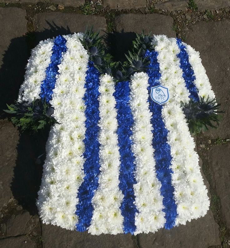 Football shirt funeral tribute