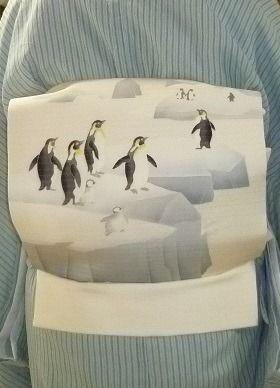 Penguin summer obi, seen on