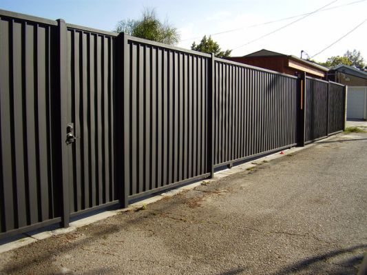 Install Corrugated Metal Privacy Patio In 2018 Pinterest Zaun