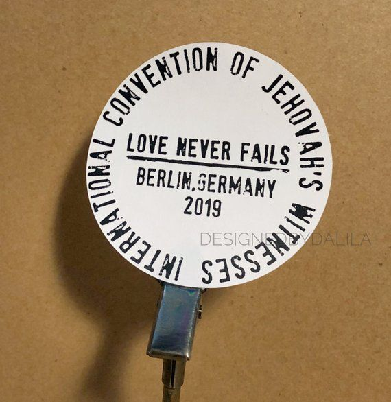 Love Never Fails International Convention 2019 Stickers Custom To