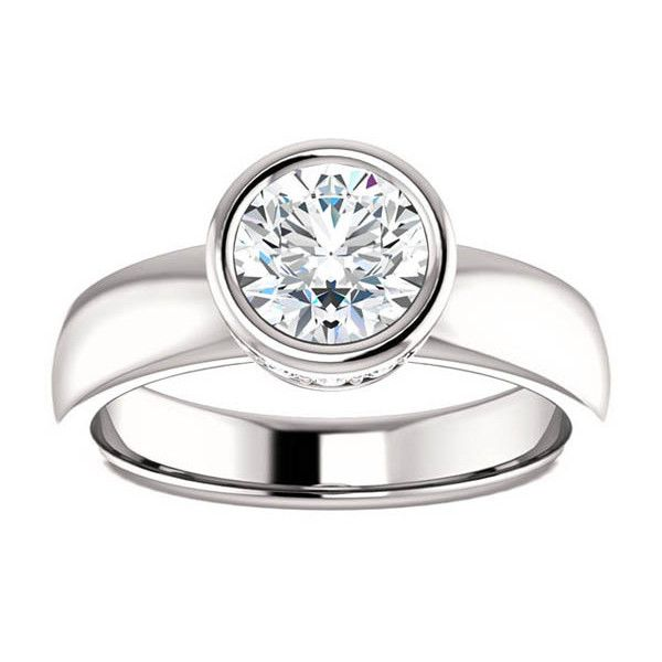 17 best ideas about bezel engagement rings on