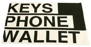 Black and White Keys, Phone, Wallet Fun Doormat - Contemporary - Doormats - Amazon