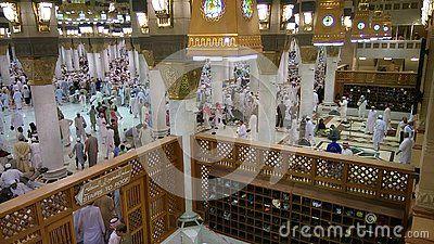 Muslims entering at Medina mosque in Medina city Arabia saudita Ramadan 2016