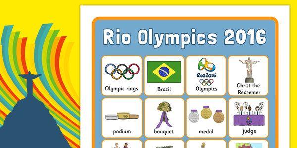 Rio Olympics 2016 Vocabulary Poster - rio olympics, rio