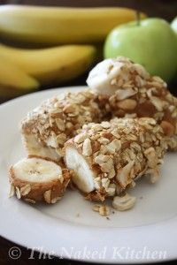Toasted Banana Breakfast Roll Healthy snack