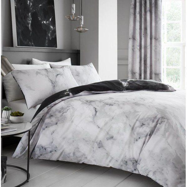 Duquette Duvet Cover Set Marble Bed Set Marble Duvet Cover Marble Bedding