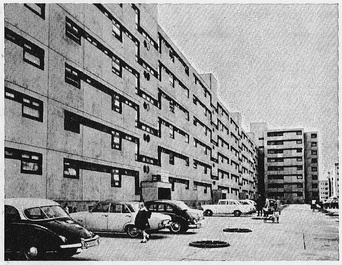 West-Berlin in pictures #134:  René Gagès, Volker Theissen, Werner Weber    Residential Block at Wilhelmsruher Damm, Markisches Viertel, Berlin-Reinickendorf, 1966-68