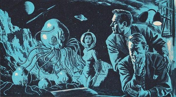 """Иллюстрация к повести """"Психиатр, заразившийся безумием от своего пациента""""  1956 год"""