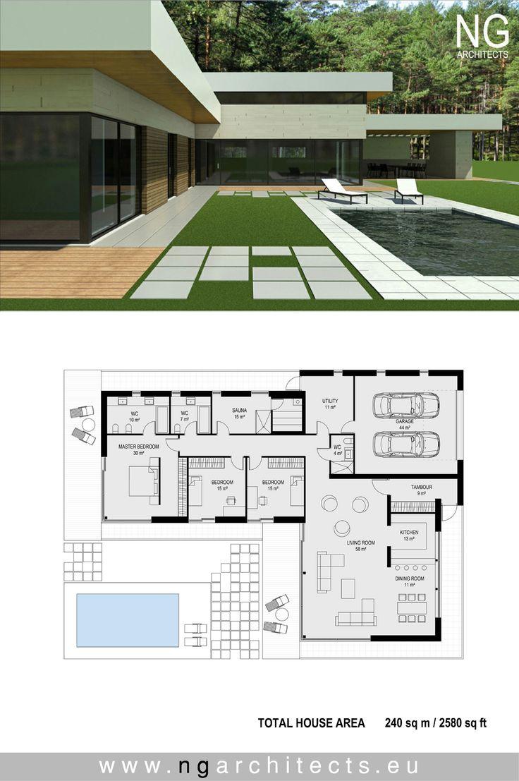 320 best modern house plans images on pinterest modern. Black Bedroom Furniture Sets. Home Design Ideas