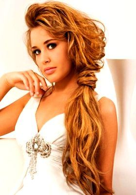 long hair styles for prom 1000 ideas about side ponytail hairstyles on 2522 | 3994a5fe08faf8c6ab7f3a2affcb2522