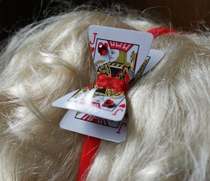Alice in Wonderland Playing Card Headband (red). $6.00, via Etsy.