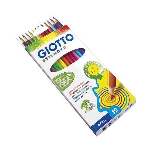 Pastelli Giotto Stilnovo 3,3 mm Colori Assortiti 12pz 3+ - #Colore-Fusto, #Forma-Fusto, #Mm-Colori-Assortiti, #Pastelli