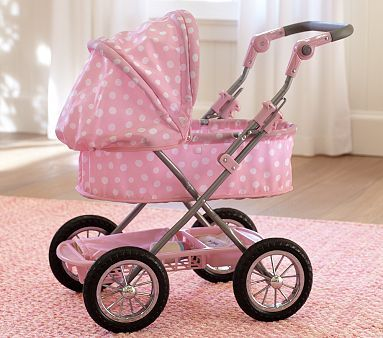 baby doll strollers for kids | today I noticed this Polka Dot Pram ($79) in the Pottery Barn Kids ...