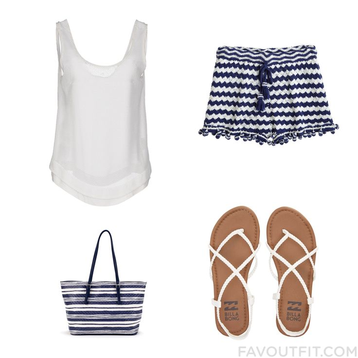 Closet Ensemble With Le Ragazze Di St. Barth Top Calypso St. Barth Billabong Sandals And Man Bag From April 2016 #outfit #look