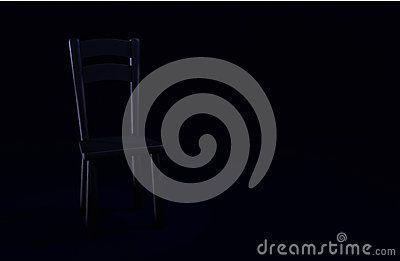 Dark Chair On A Dark Room - (C) Celia Ascenso 2016