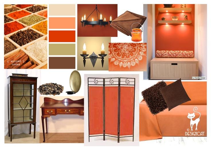 Spiced Tones Designcat Inspiration Mood Board Brown Chocolate Terracotta Orange Senna