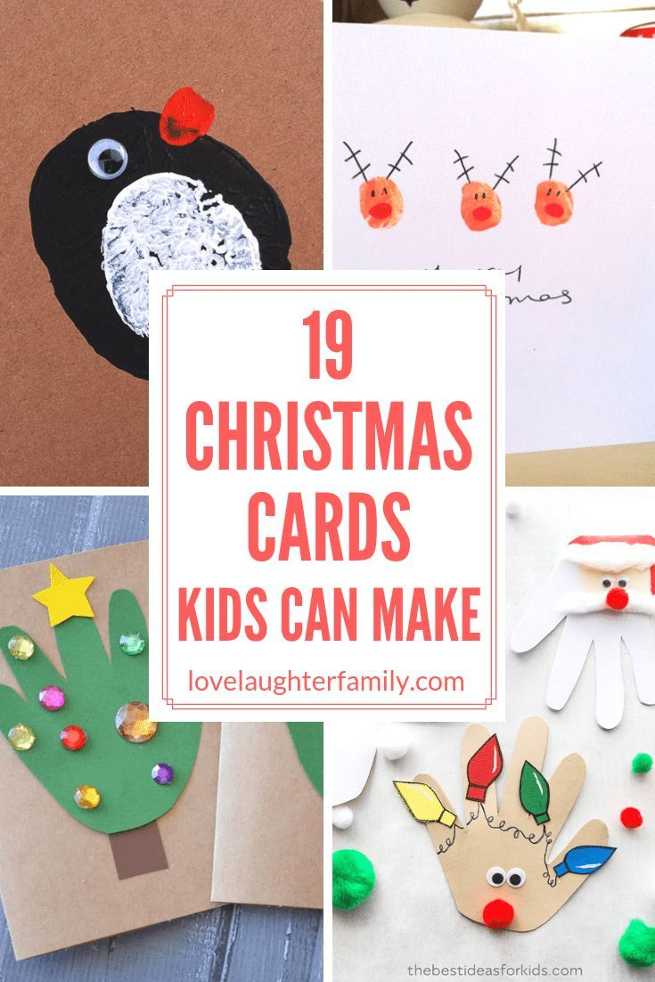 19 Simple Christmas Cards Kids Can Make To Share With Their
