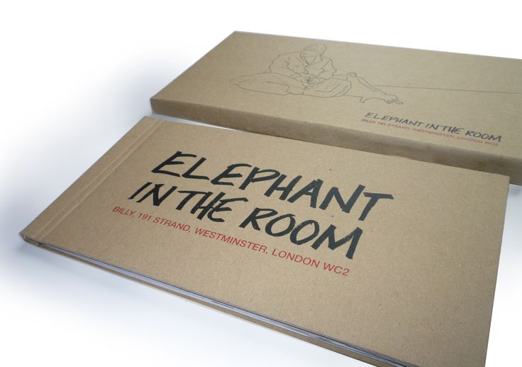 Elephant in the Room -  screen printed cover and sleeve of short documentary piece on homelessness in London