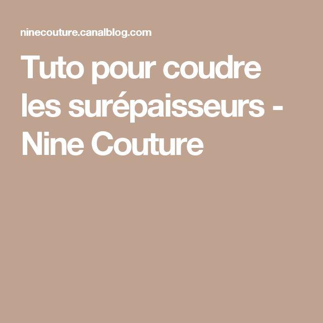 Tuto pour coudre les surépaisseurs - Nine Couture