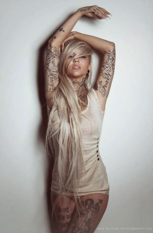 Tattoos: Nice, but mostly like the hair...