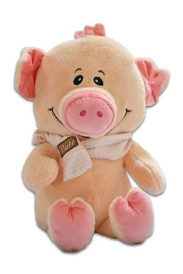 """""""Oink, Oink"""" says the Weighted Pig Cuddle Buddy. He/she would love a new home with your child."""
